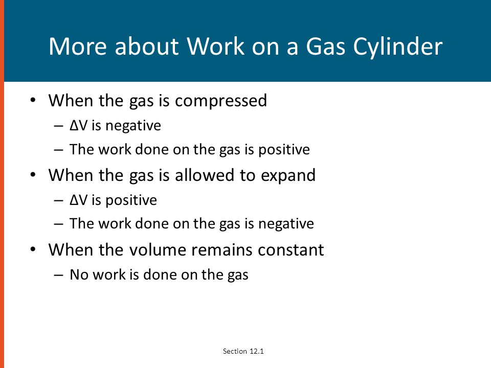 More about Work on a Gas Cylinder