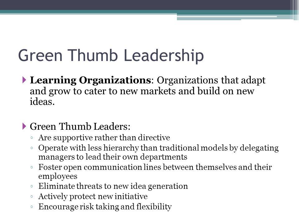Green Thumb Leadership