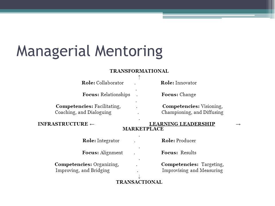 Managerial Mentoring