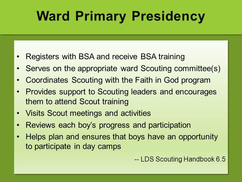 Ward Primary Presidency