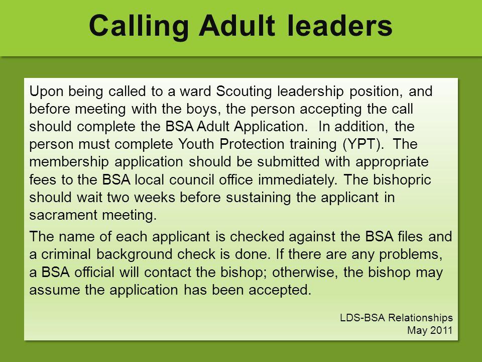 Calling Adult leaders