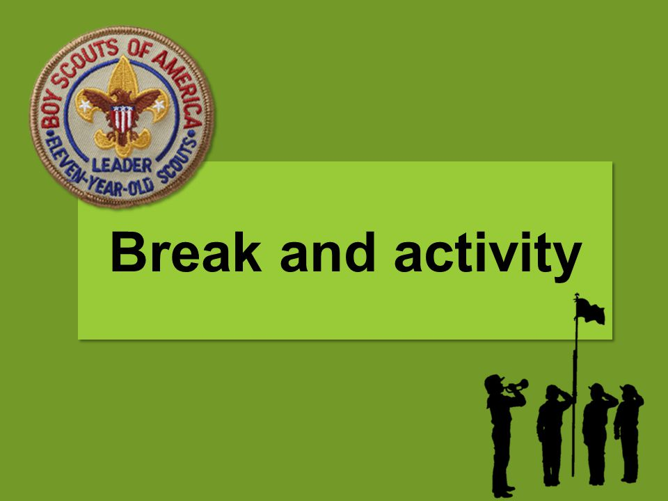 Break and activity Both Snack TP shuffle