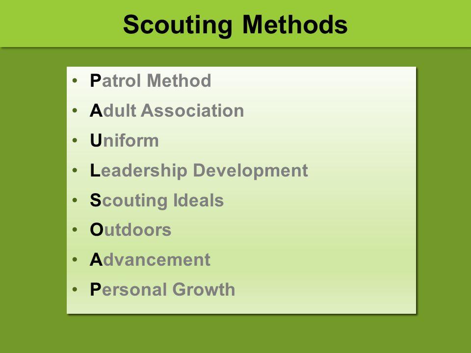 Scouting Methods Patrol Method Adult Association Uniform