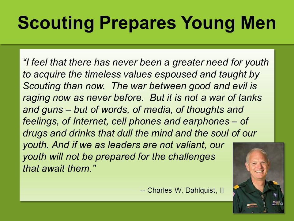 Scouting Prepares Young Men