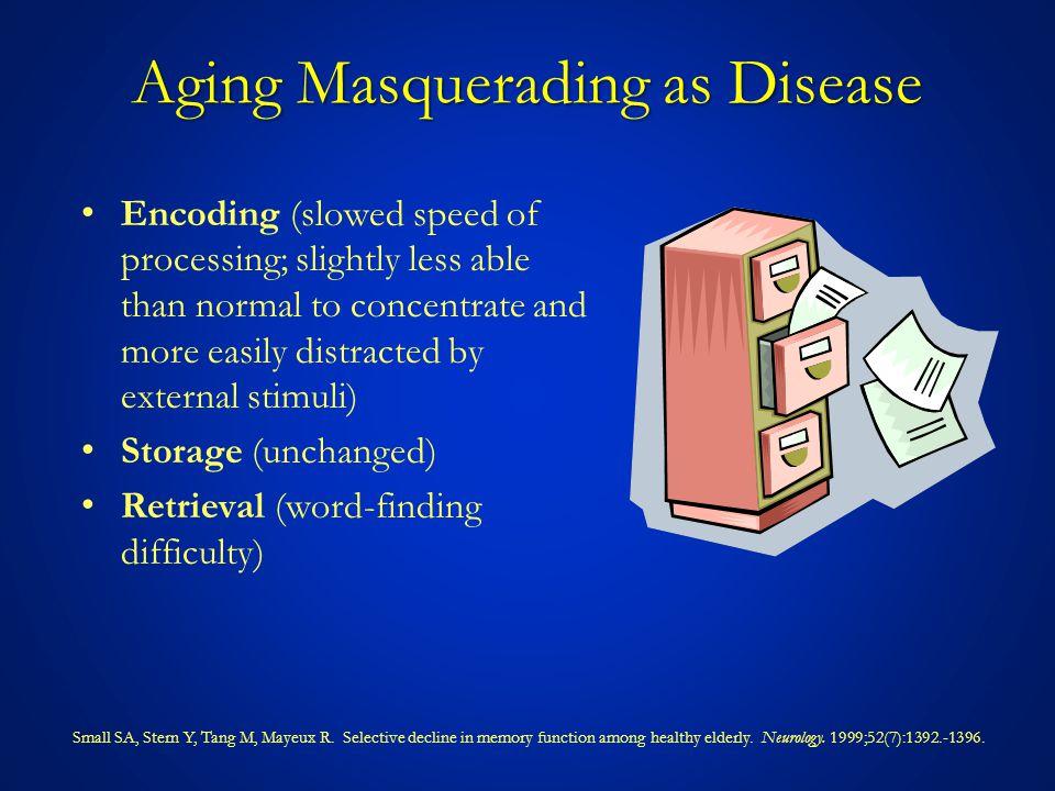 Aging Masquerading as Disease