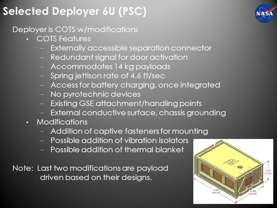 Selected Deployer 6U (PSC)