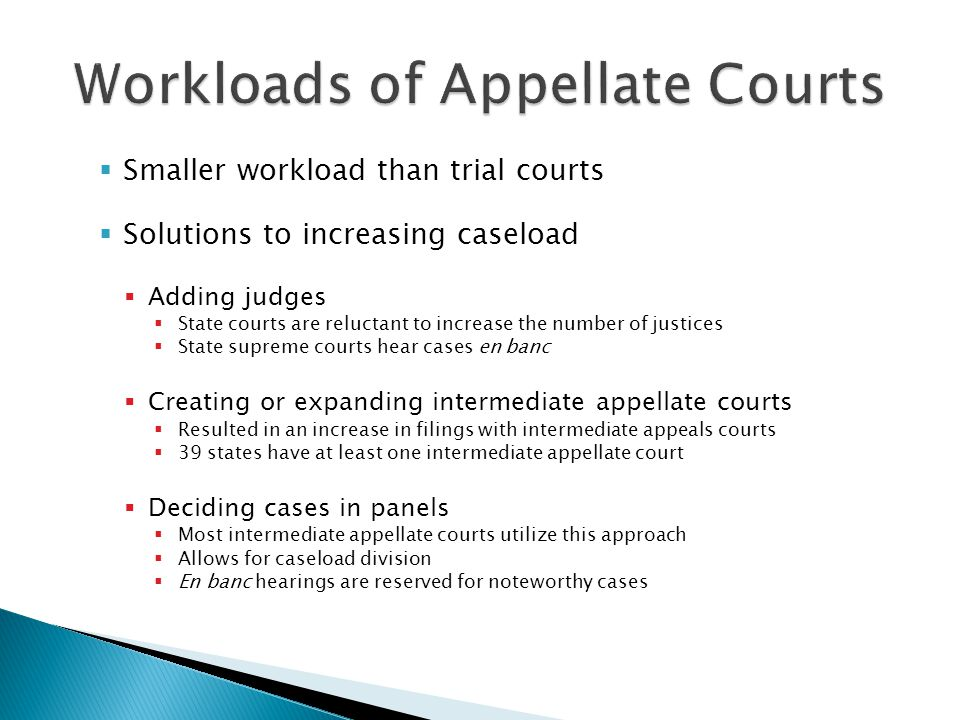 Workloads of Appellate Courts