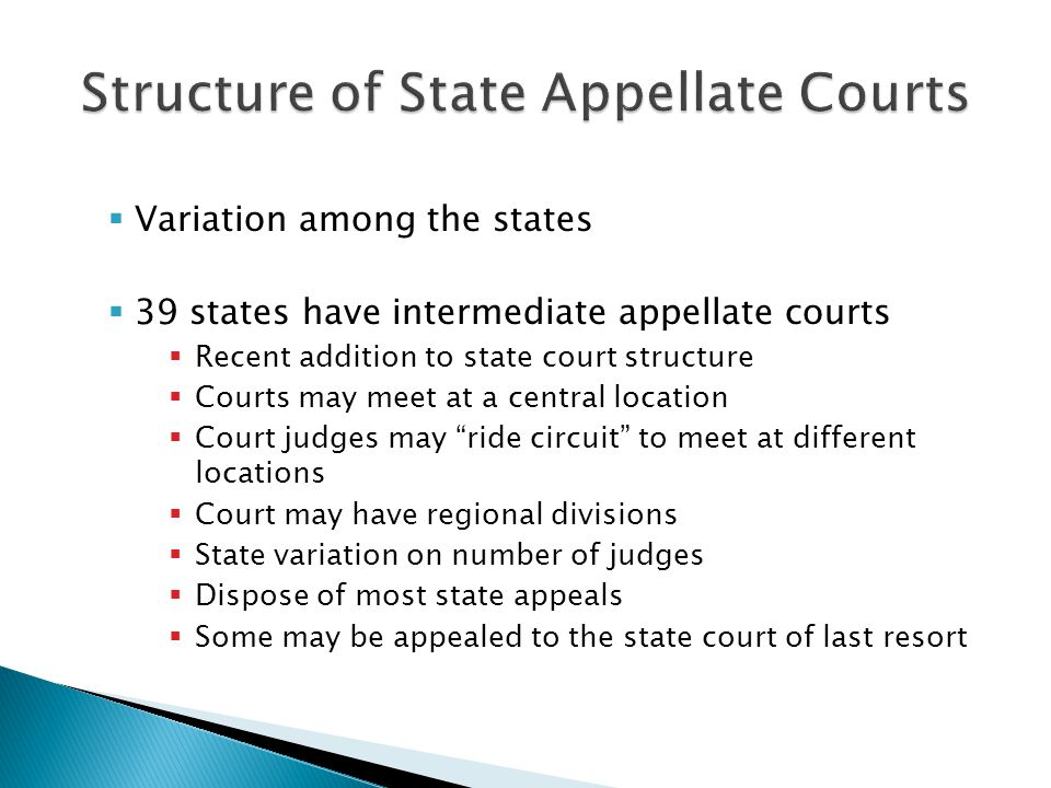 Structure of State Appellate Courts