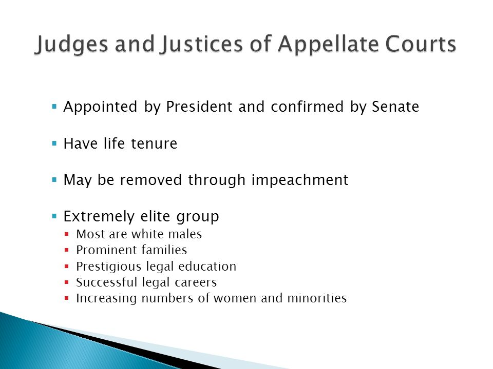 Judges and Justices of Appellate Courts