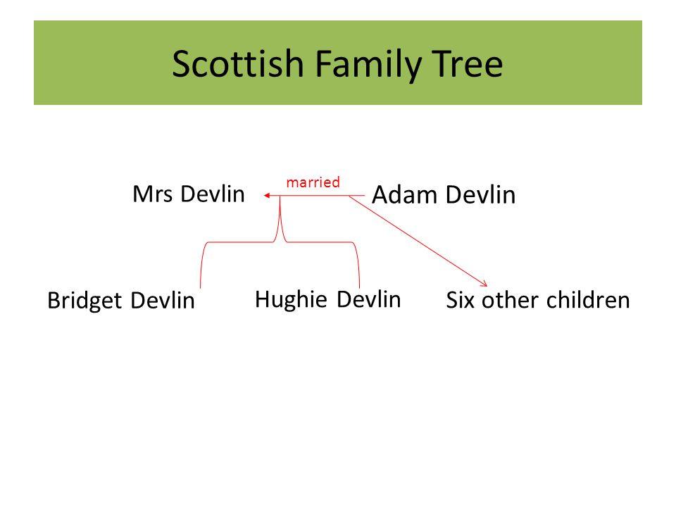 Scottish Family Tree Adam Devlin Mrs Devlin Bridget Devlin
