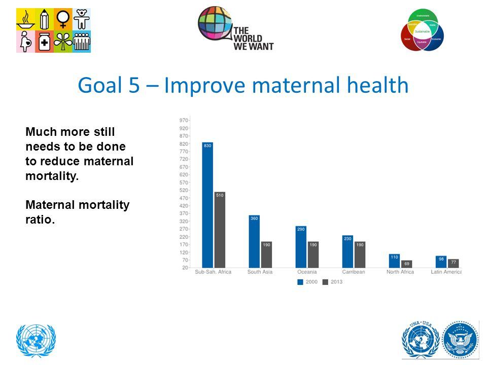 Goal 5 – Improve maternal health