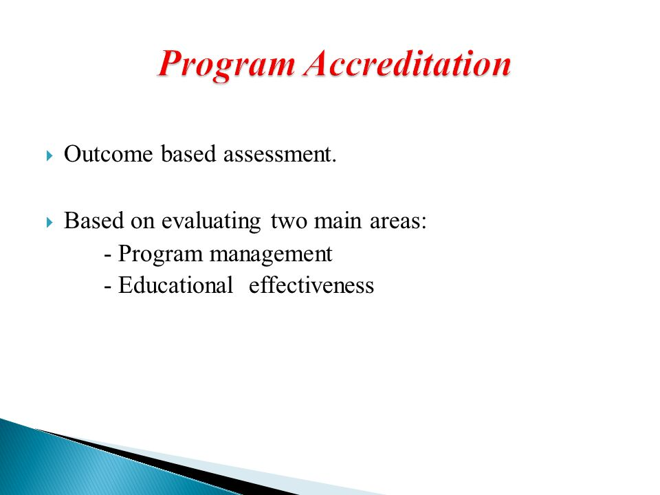 Program Accreditation