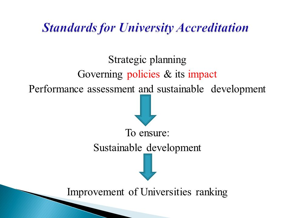 Standards for University Accreditation