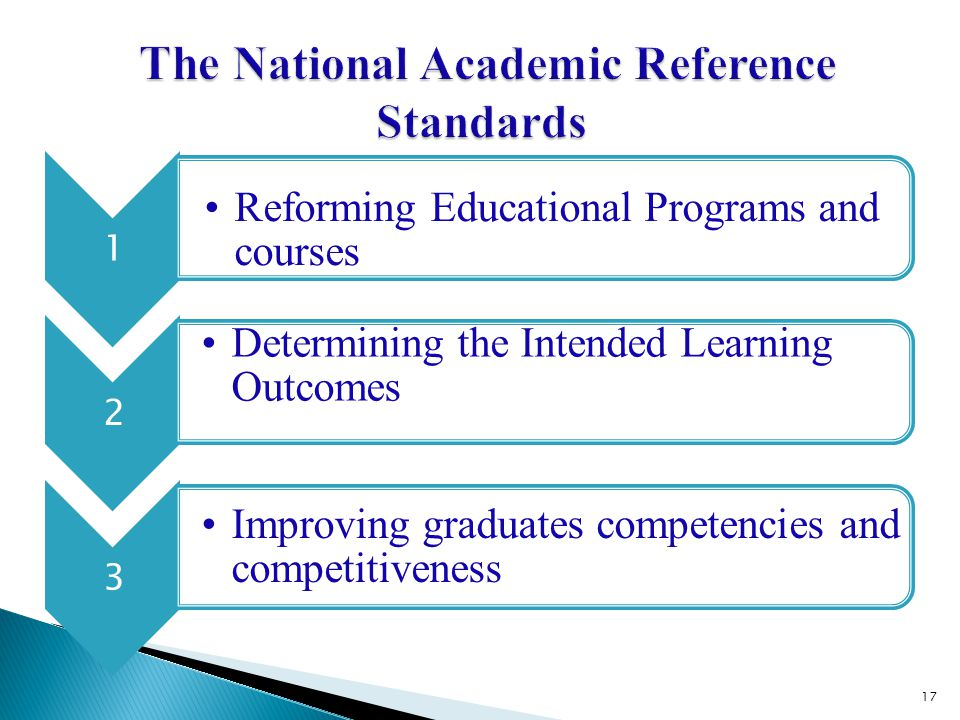 The National Academic Reference Standards