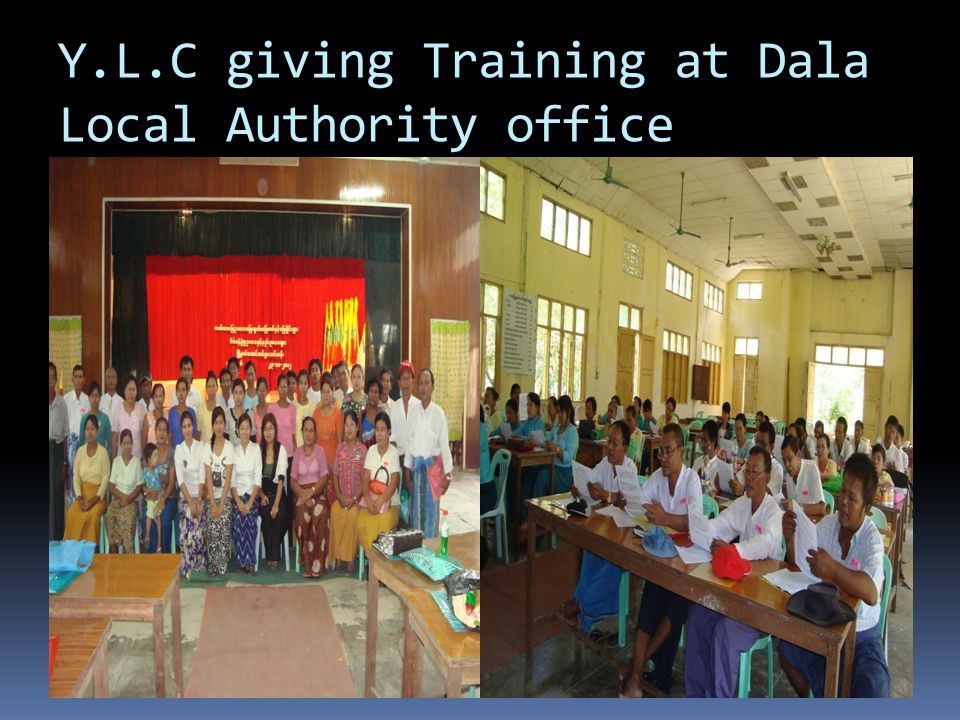 Y.L.C giving Training at Dala Local Authority office