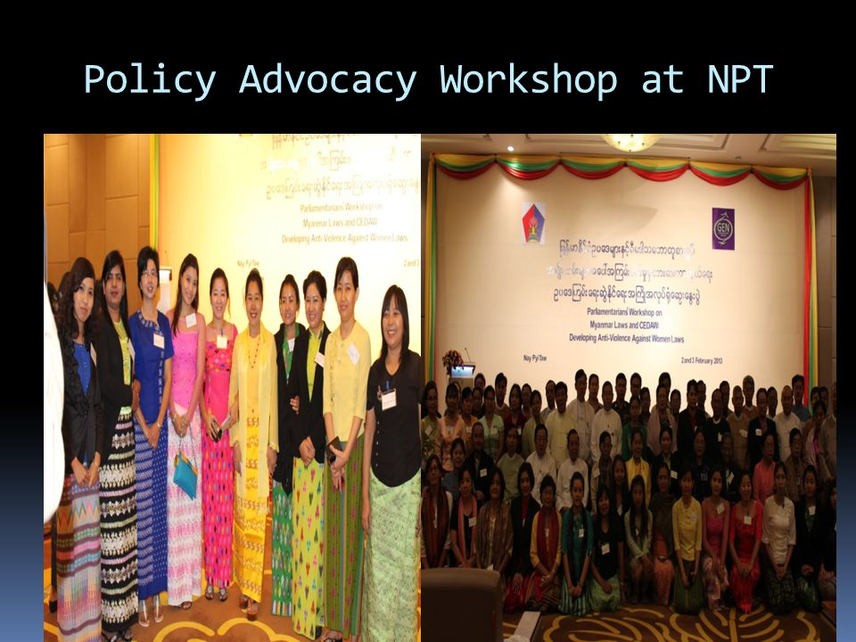 Policy Advocacy Workshop at NPT