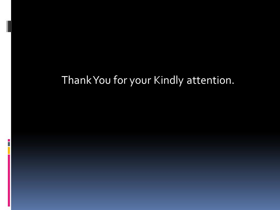 Thank You for your Kindly attention.