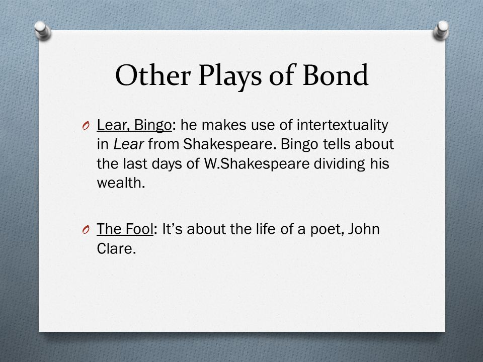 Other Plays of Bond