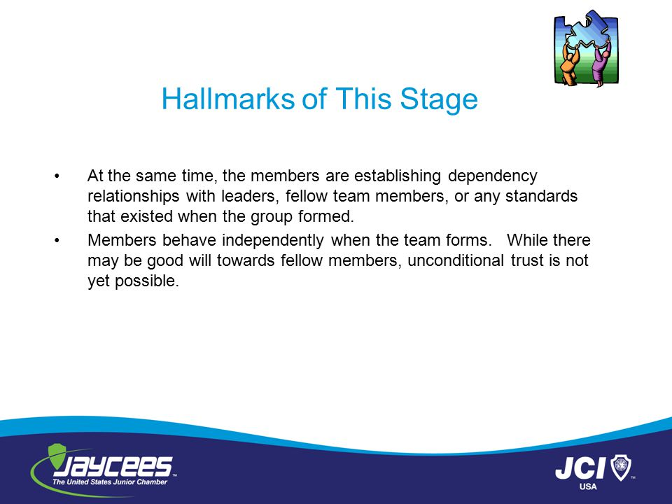 Hallmarks of This Stage