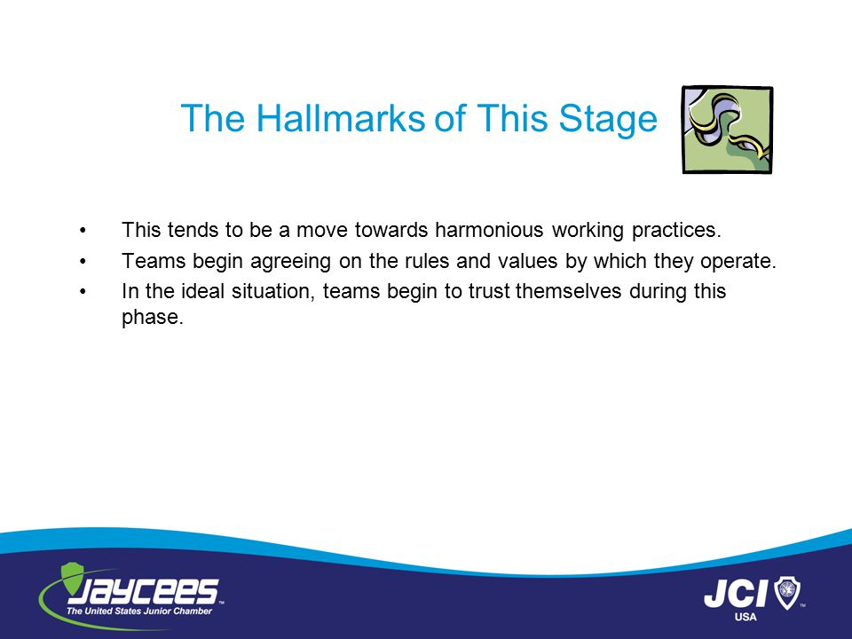 The Hallmarks of This Stage
