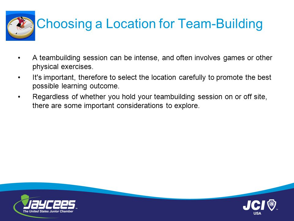 Choosing a Location for Team-Building