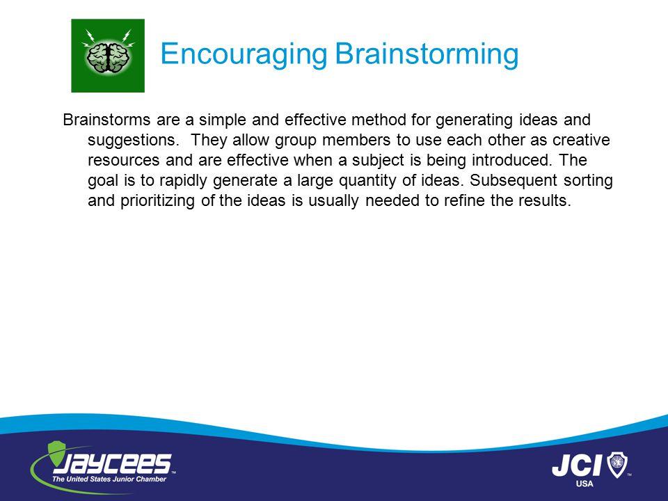 Encouraging Brainstorming