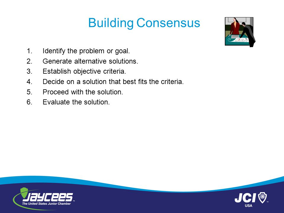 Building Consensus Identify the problem or goal.