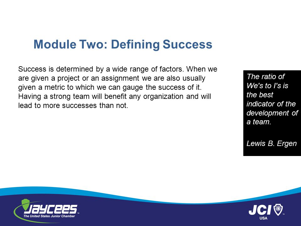 Module Two: Defining Success