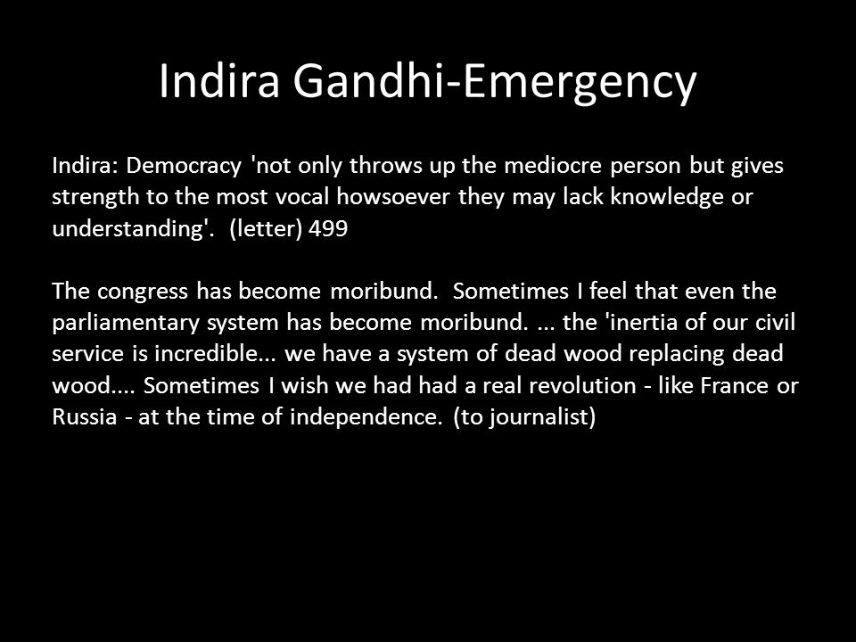 Indira Gandhi-Emergency