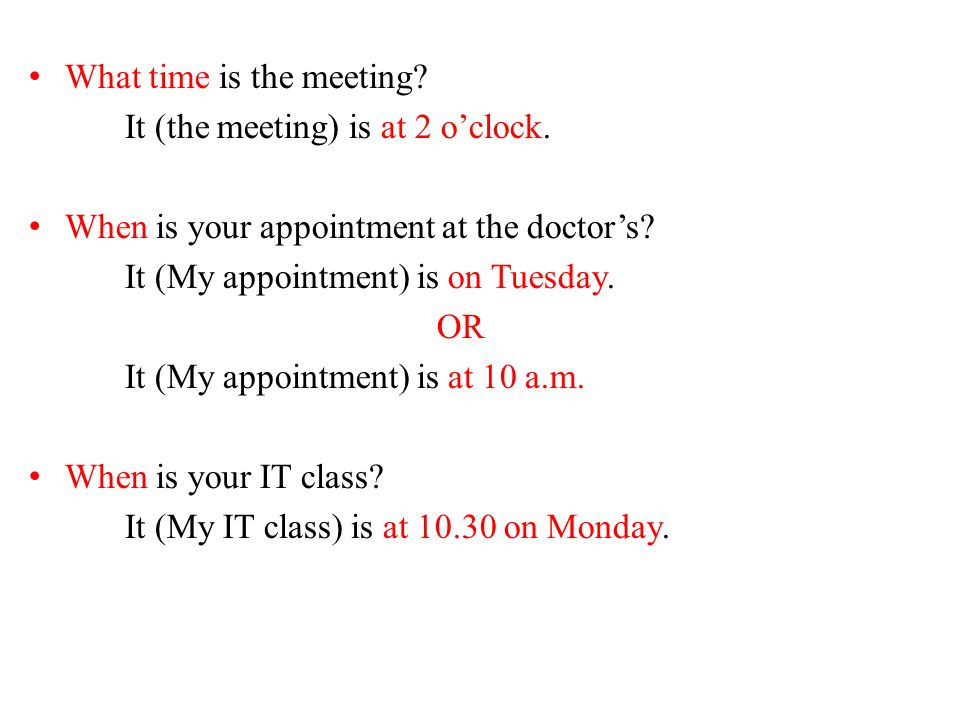 What time is the meeting