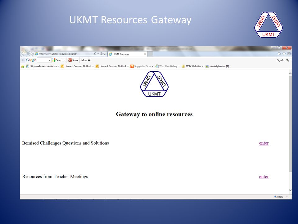 UKMT Resources Gateway