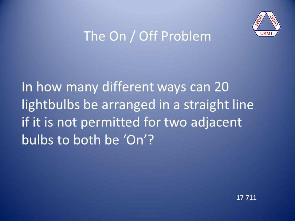 The On / Off Problem