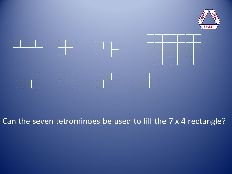 Can the seven tetrominoes be used to fill the 7 x 4 rectangle
