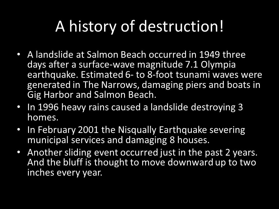 A history of destruction!