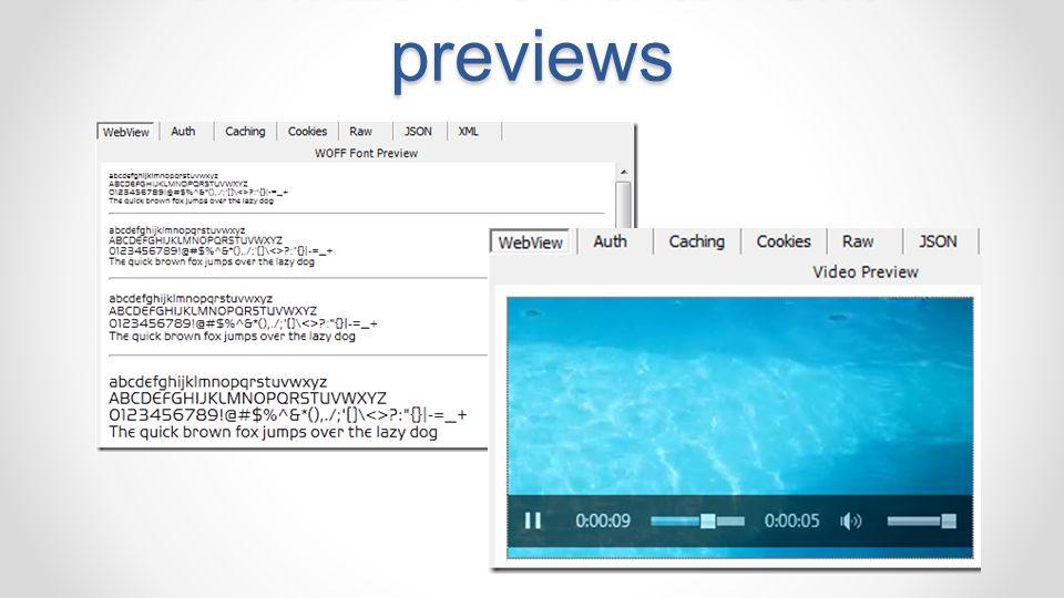 HTML5 Media & Font previews