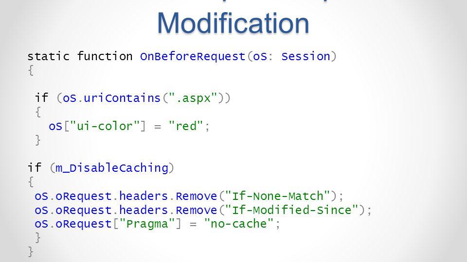 FiddlerScript – Request Modification