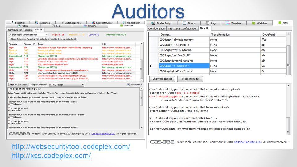 Watcher & x5s Security Auditors
