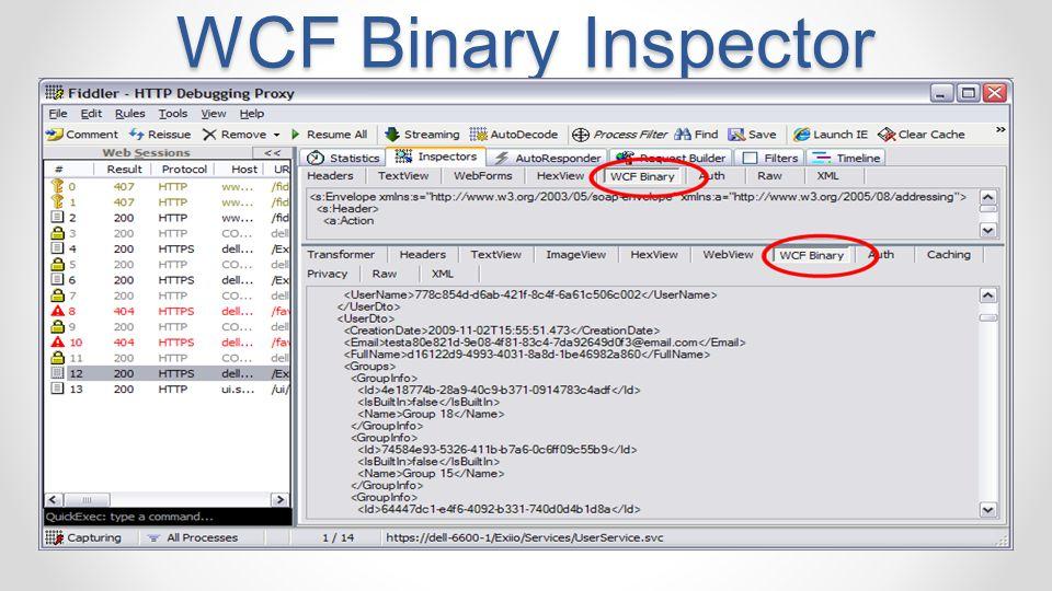 WCF Binary Inspector MIX 11 4/14/2017