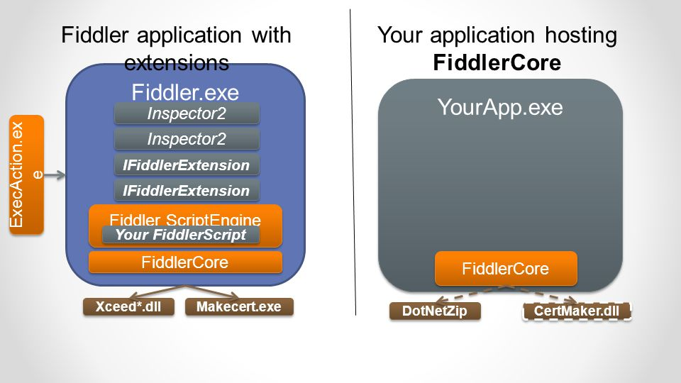 Fiddler application with extensions