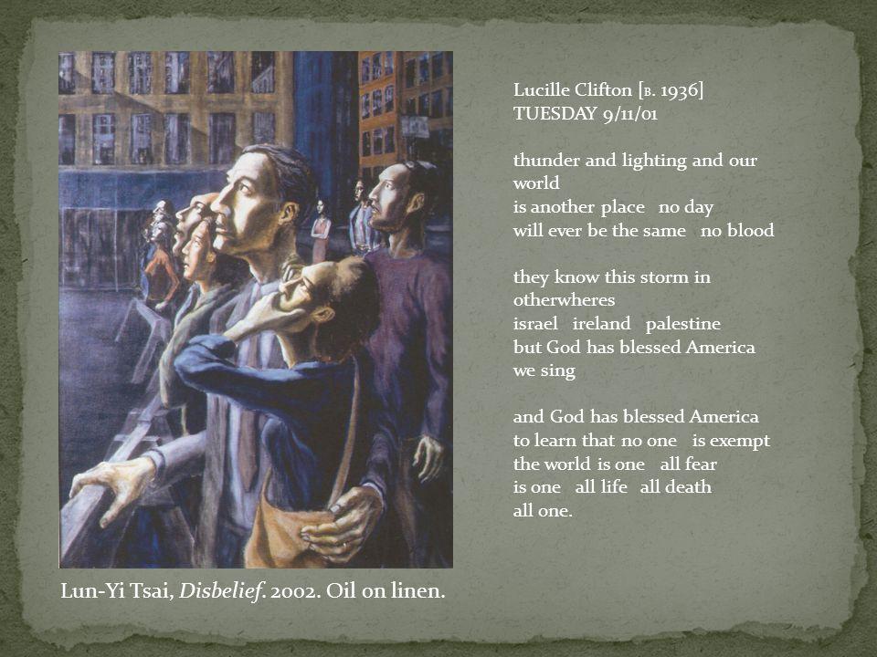 Lun-Yi Tsai, Disbelief. 2002. Oil on linen.