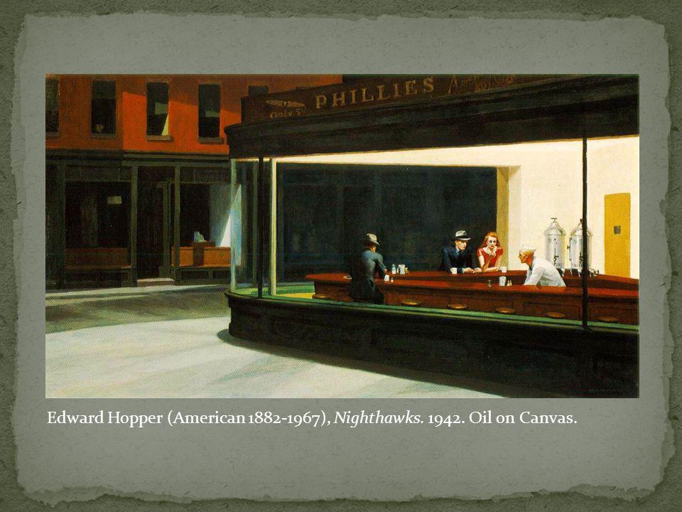 Edward Hopper (American 1882-1967), Nighthawks. 1942. Oil on Canvas.