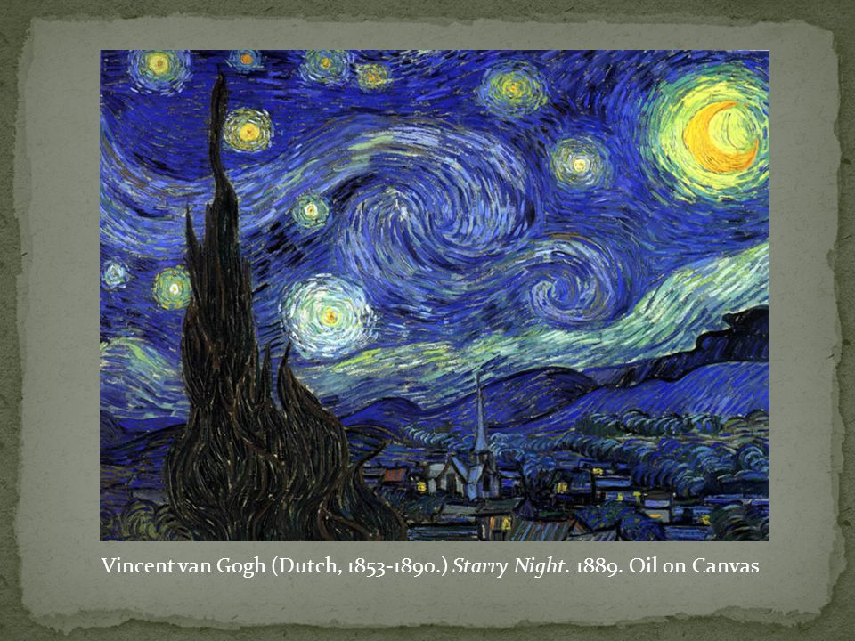 Vincent van Gogh (Dutch, 1853-1890.) Starry Night. 1889. Oil on Canvas