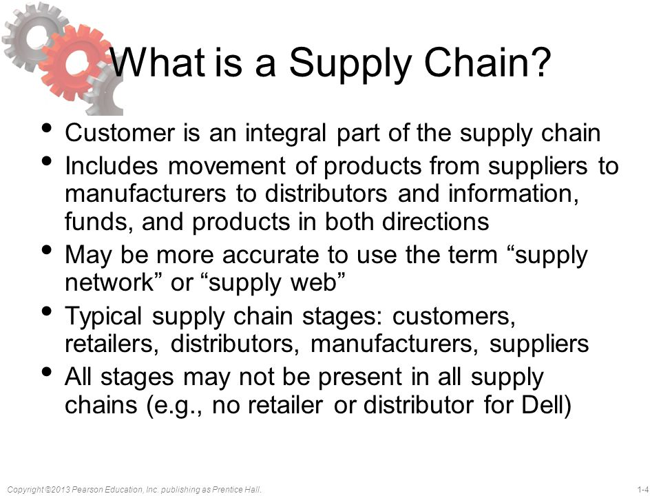 What is a Supply Chain Customer is an integral part of the supply chain.