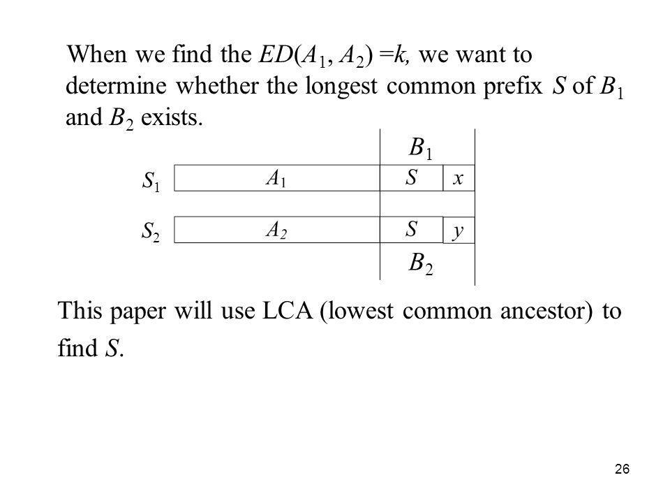This paper will use LCA (lowest common ancestor) to find S.