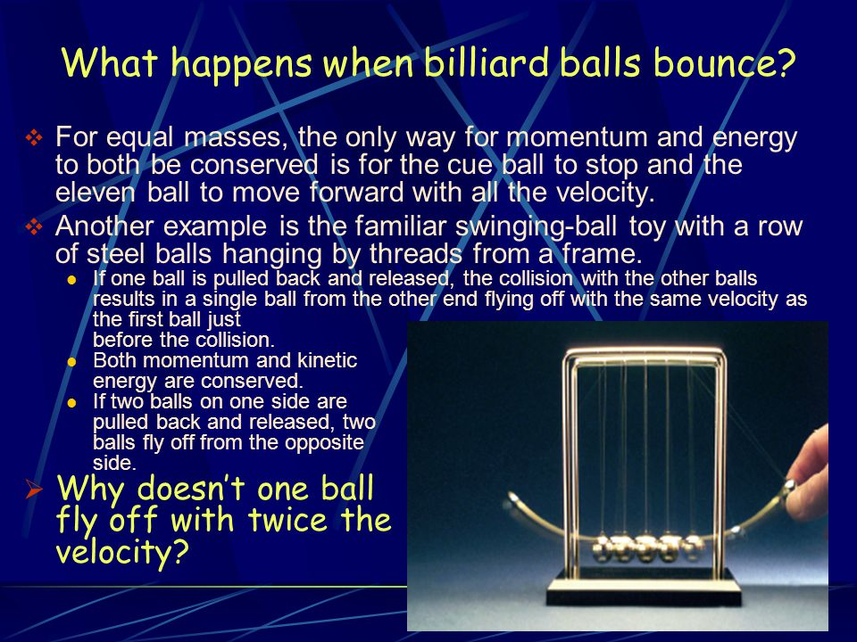 What happens when billiard balls bounce