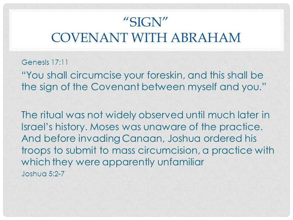 Sign Covenant with Abraham
