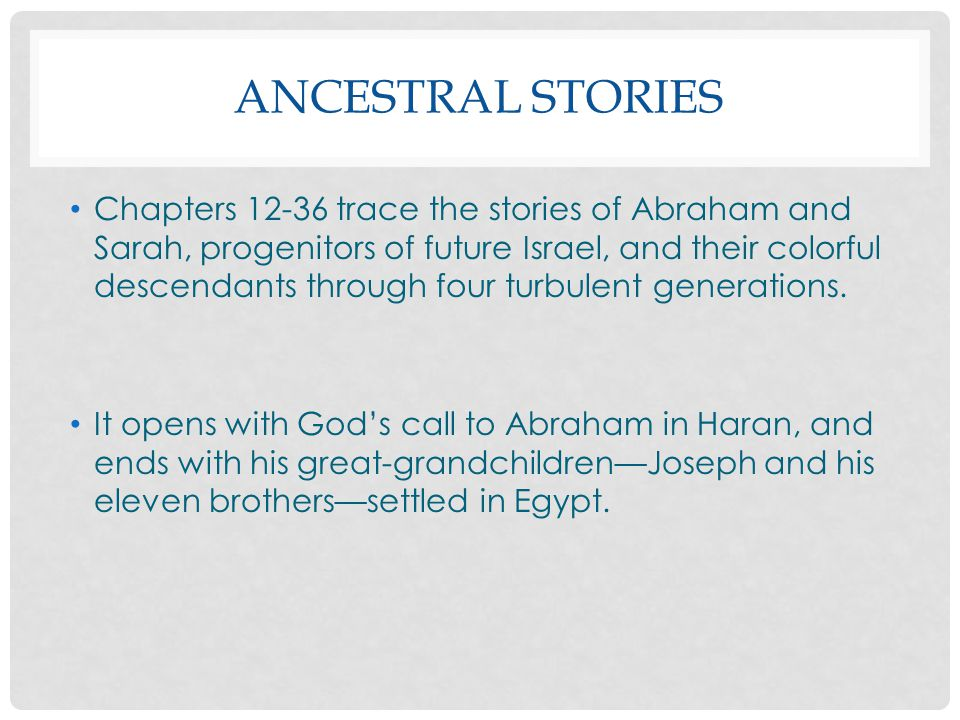 Ancestral Stories