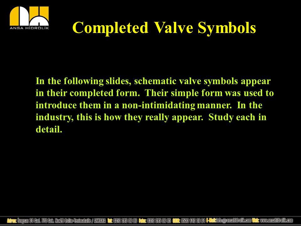 Completed Valve Symbols