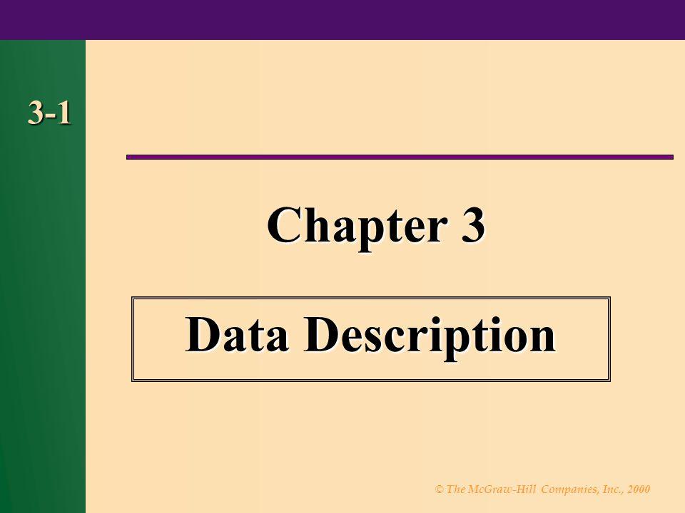 Chapter 3 Data Description