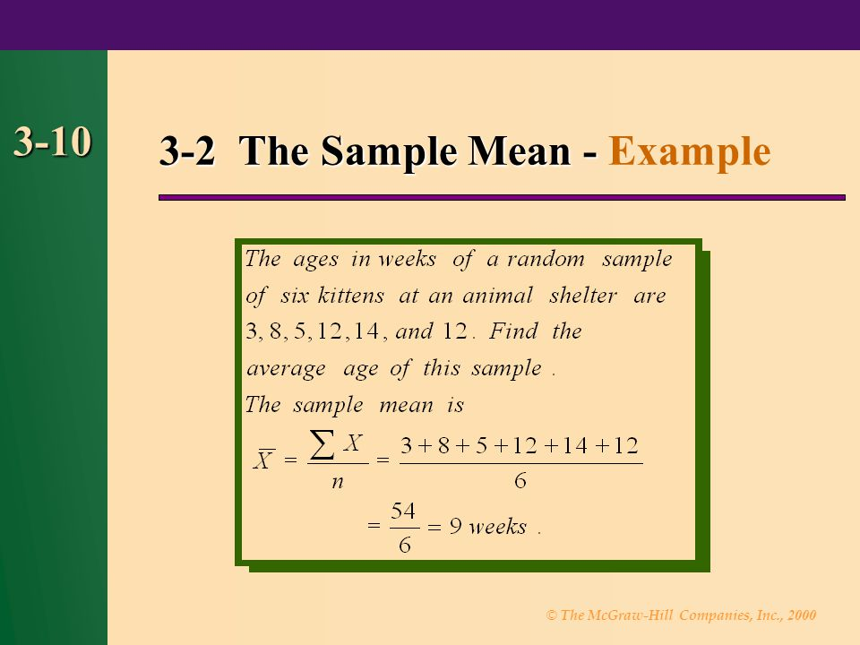 3-2 The Sample Mean - Example